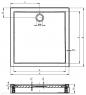Душевой поддон RIHO 100 x 90+панель+ножки DA61